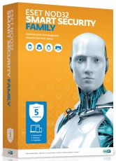 Антивирус Eset NOD32 Smart Security Family - лицензия на 1 год на 5ПК (NOD32-ESM-NS(BOX)-1-5)